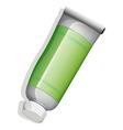 A green medicinal tube vector image vector image