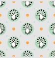 abstract seamless pattern with cartoon meditating vector image vector image
