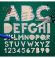 Alphabet and numbers paper craft design cut out
