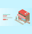 antiquarian shop horizontal vector image vector image