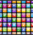 app icons 3d texture with reflection vector image