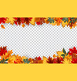 autumn leaves border frame with space text o vector image