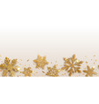 background repeating shiny snowflakes vector image