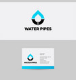 blue pipes logo and branding identity vector image vector image
