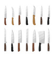 cartoon kitchen knives vector image