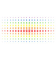 certificate seal spectrum halftone matrix vector image