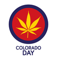 Colorado Day vector image vector image