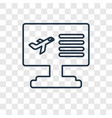 computer concept linear icon isolated on vector image