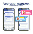 Customer feedback rating smartphone