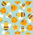 cute bee seamless pattern for wallpaper or vector image vector image