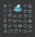 different forecast icons collection web and vector image