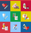 digital blue red pharmacy vector image vector image