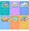distant work and freelance vertical posters set vector image vector image