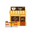 facade a coffee shop cute cafe and restaurant vector image