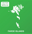 faroe islands map icon business concept faroe vector image vector image