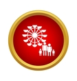 Ferris wheel and family icon simple style vector image vector image