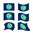 flag planet earth set official national symbol vector image vector image
