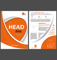 flyer concept with orange curved shapes vector image vector image