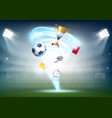 football world cup and soccer ball vector image vector image