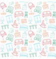 furniture seamless color pattern background vector image vector image