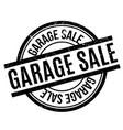 garage sale rubber stamp vector image vector image