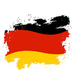 Germany flag grunge style on white background vector image vector image