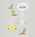 happy easter greeting card cute cartoon vector image
