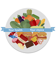 Healthy and unhealthy food concept vector image