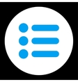 Items flat blue and white colors round button vector image vector image