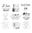 Live Music Hand Drawn Banner Set vector image vector image