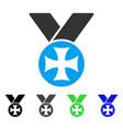 maltese medal flat icon vector image