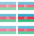 Mosaic Azerbaijan flag set vector image vector image