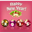 new year card with balls vector image