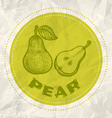 pear vintage paper vector image vector image