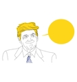 portrait of a smiling Donald Trump sketch vector image vector image