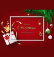 red christmas background concept with frame vector image