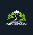 road to mountain logo emblem vector image vector image