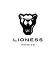 roaring lioness head logo icon vector image vector image
