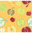 Seamless background with apples vector image vector image