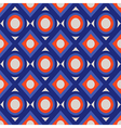 Seamless pattern with circles and rhombs vector image vector image