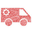 service car fabric textured icon vector image vector image