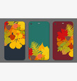 set of autumn ornament for mobile phone cover the vector image vector image