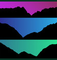 set of hills and mountain landscape vector image vector image