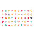 slang bubbles different words and phrases in vector image
