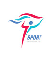 sport fitness - concept business logo vector image