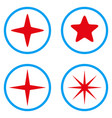 star rounded icons vector image
