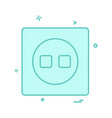 switch icon design vector image vector image
