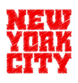T shirt typography graphics New York red drawn vector image vector image