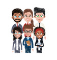 team of young business people icon image vector image vector image