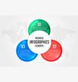 three steps infographics presentation template vector image